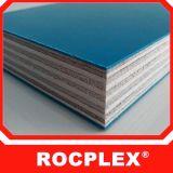 Blauw Plastic Triplex Rocplex, Zwart Film Onder ogen gezien Triplex