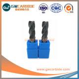 HRC50 duraderas en utilizar 4 flauta Molino extremo cuadrado de carburo de tungsteno