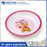 Раунда детей меламином ужин пластину с логотипом