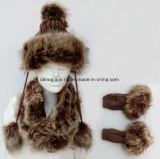 Комплекты шлема шерсти & шарфа & перчаток на зима (CPHC7040X)