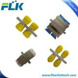 FC Duplex Adaptador de conector de fibra óptica de metal