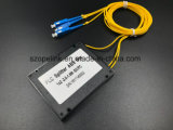 Gpon 원거리 통신에 의하여 착색되는 섬유 1X2 PLC 쪼개는 도구 시스템 플라스틱 상자