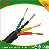 Câble de commande isolé par PVC de cuivre solide de gaine de conducteur