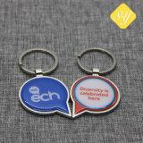 Abitudine Keychain di promozione stampata metallo su ordinazione di prezzi di fabbrica