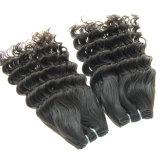 Trama profunda brasileira do cabelo humano de Remy do Virgin da onda