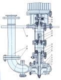 Vertical de Yw que obstrui não a bomba de depósito da água de esgoto
