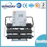 Éthylèneglycol réutilisant le réfrigérateur industriel refroidi à l'eau de vis