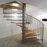 Barato con escalera de caracol de madera de alta calidad