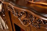 Geschnitzter Brown-Kamin für Hauptdekoration