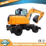 Excavador de la rueda Yrx80-9 con la fuerza impulsora fuerte