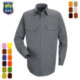 رجال أصل يتأهّل طويلة كم نسيج قطنيّ عمل قميص