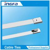 Cintas plásticas de prata do aço inoxidável para o cabo e a tubulação 4.6X450mm