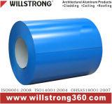 Il colore ha ricoperto la bobina di alluminio di reticolo di legno