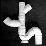 Pipe blanche personnalisée et ajustage de précision de PVC pour l'approvisionnement en eau
