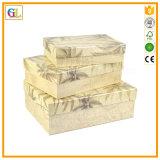 Rectángulo de regalo de empaquetado de la cartulina del papel de buena calidad