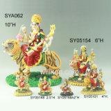 Decorazione indiana della statua del dio dei punti indù di preghiera della resina grande