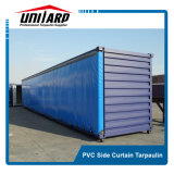 650GSM Standard 20FT 40FT PVC Knife Coated Tarpaulin Open Container Signal Cover with Grommets