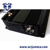 Telefone de pilha 3G, WiFi & jammer de 6 antenas do RF (315MHz/433MHz)