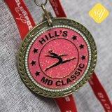 Form-Zink-Legierungs-Laufring-Marathon-Sport-unbelegte Metallfiesta-laufende Medaille sterben