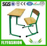 Diseño de madera solo estudiantes escritorio con silla SF-53b