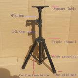 Soporte portable flexible ajustable los 68-114cm del corchete del montaje de trípode del proyector de tres pares