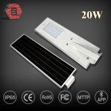 20W Aluminiumlegierung alle in einem Solar-LED-Straßenlaterne