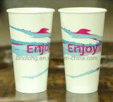 Desechables de alta calidad bebida fría el doble de PE vaso de papel