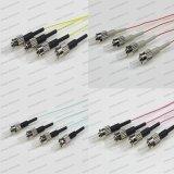St/Upc Sm/mm/Om1/Om2/Om3/Om4 Sx 0.9 cordon de connexion de fibre optique de tresse de PVC/LSZH