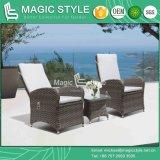 Patio Jardin Pneumatica en osier Chaise en rotin fauteuil relax extérieur ensemble canapé avec coussin de tissage en rotin Relax canapé