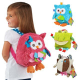 Bonitinha Kid Escola de pelúcia mochilas Figura Animal Bag Kid Meninas meninos dons Toy Owl Vaca Frog Monkey Saco Escolar