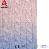 Nouveau design colorant DIP tricot de câble de jeter de l'acrylique couverture