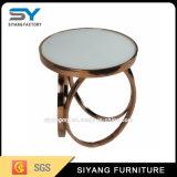 Table basse d'extrémité supérieure de marbre de meubles de salle à manger