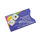 Protetor RFID do cartão de crédito do passaporte da folha de alumínio que obstrui a luva do cartão