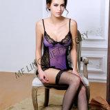 Un corsetto elastico sexy di vendita caldo di due colori con le calze della giarrettiera