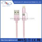 이동 전화를 번개와 마이크로 USB 케이블 나일론 땋는 청구하거나 Sync 데이터2 에서 1