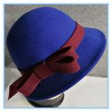 Повелительница Шлем Cloche войлока шерстей способа с смычком войлока
