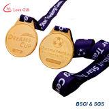 Fabrik kundenspezifischer Goldfußball-Medaillen-Großverkauf