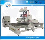 4 as 4 CNC van de Houtbewerking van Hoofden de Multifunctionele Machine van de Graveur van de Router