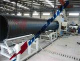 De HDPE de grande calibre de parede dupla linha de produção de tubos de liquidação