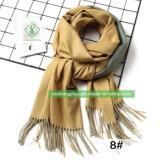 Moda lenço simples em Face dupla com o pendão Winter Senhora xale de Caxemira