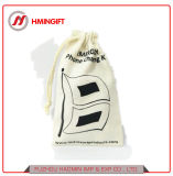 El algodón promocional impreso personalizado Zapata Drawstring Bolsa Bolsa de compras