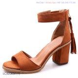 Womens sandales talon bloc Peep Toe Mesdames sangle de cheville de chaussures