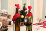 Bouteille de vin rouge Non-Woven manchon avec le foulard et Hat Set pour Noël