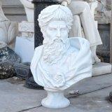 L'Ouest sculpté à la main homme buste en marbre blanc