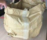 韓国86*86*100cm黄色いリサイクルされた物質的なPPのトン袋