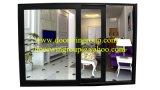 Ventana de desplazamiento de calidad superior para el cliente del Caribe, la ventana de desplazamiento Finished más popular con el vidrio doble