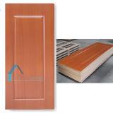 Pele de madeira vermelha da porta do papel da melamina