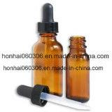 100ml de aceite esencial de vidrio ámbar Frasco con gotero de tubo de vidrio