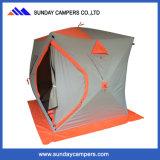 [بوب-وب] جليد صيد سمك يسحب خيمة لأنّ شتاء يخيّم خارجا خيمة