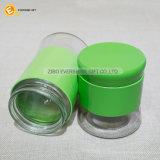 Mini bottiglia di vetro dell'agitatore con la fascia del manicotto ed il coperchio di colori